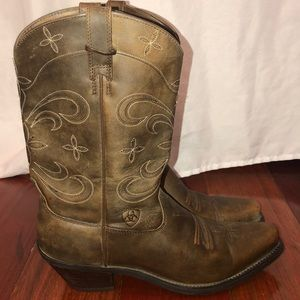 Ariat ATS Brown Leather Distressed Boots 9.5 M